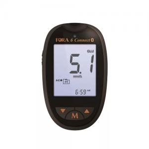 FORA 6 Plus Multi Functional Monitoring System(Bluetooth Version) UA/GB/HCT/HB/KB/TCH 6合1 E世代血糖機(藍芽版) 尿酸/血糖/血比容/血紅蛋白/血酮/膽固醇 (pcs) FORA-00007