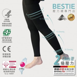 BESTIE 360D Compression Leggings 壓力九分襪褲 (pcs) BLE-3090